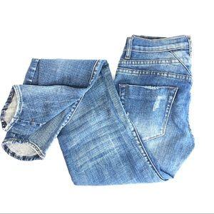 One Teaspoon Hoodlums Bow Leg Hi Low Hem Jeans